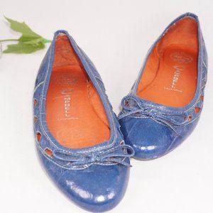 Jeffrey Campbell Ibiza Lovely Blue Flats, Size 8